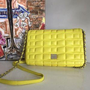 Kate Spade New York Brianna Yellow Leather Bag